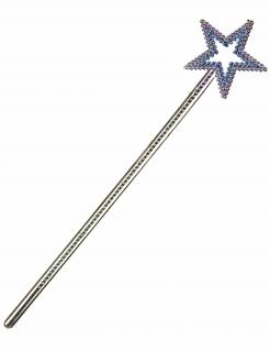 Fee Zauberstab mit Stern Kostümzubehör silber 34cm