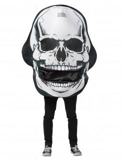 Riesen Totenkopf-Kostüm schwarz-weiß