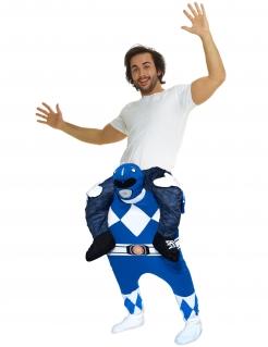 Morphsuits™ Carry-Me-Kostüm Power Rangers™-Lizenzkostüm blau-weiss
