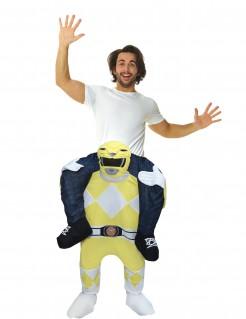 Morphsuits™ Carry-Me-Kostüm Power Rangers™-Lizenzkostüm gelb-weiss