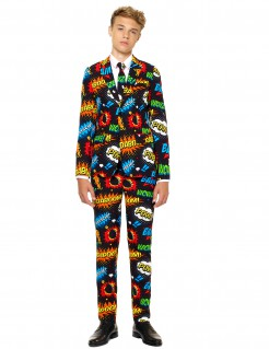 Mr. Comic Opposuits™-Anzug für Kinder schwarz-bunt