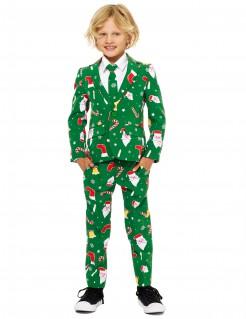 Mr. Santaboss Opposuits™-Kostüm für Kinder Weihnachten grün-bunt