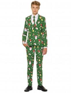 Mr. Santaboss Opposuits™-Kostüm für junge Männer Weihnachten grün-bunt