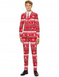 Mr. Winterwonderland Opposuits™ Anzug für Teenager rot-weiss-grün
