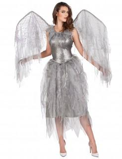 Glanzvolles Engel-Kostüm silber