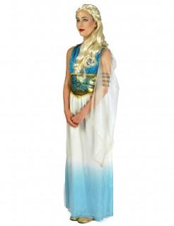 Antike Prinzessin Kostüm für Damen blau-weiss