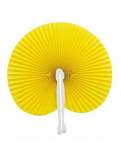 Damen-Papierfächer Konstüm-Accessoire gelb-weiss
