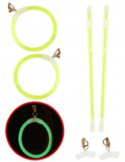 Knicklicht-Ohrringe Bad-Taste-Schmuck 2 Stück neongrün