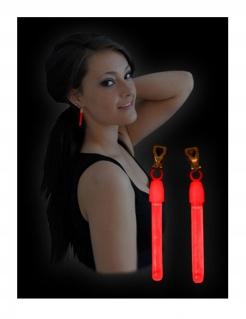 Leuchtohrringe Accessoires rot