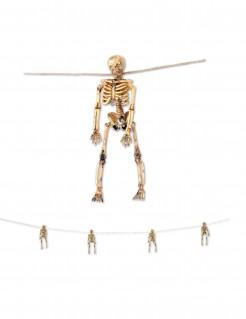 Skelett-Girlande Halloween-Partydeko beige-braun 156cm