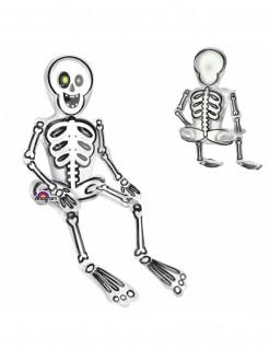 Skelett Halloween Aluminiumluftballon 45 x 66 cm