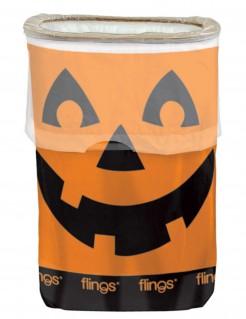 Kürbis-Mülleimer Halloween-Mülleimer orange-schwarz 49,2l
