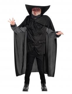 Reiter ohne Kopf Halloween Kinderkostüm mit Cape schwarz