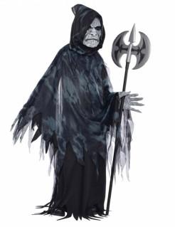 Schauriger Sensenmann Halloween-Teenkostüm schwarz