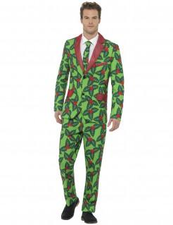 Weihnachts-Anzug Stechpalme für Erwachsene