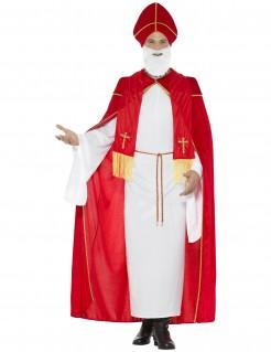 Heiliger Nikolaus Religiöses Kostüm rot-weiss