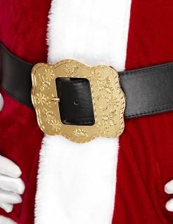 Weihnachtsmann Nikolaus-Gürtel für Erwachsene gold-schwarz