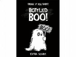 Geister-Flaschenetiketten Halloween-Flaschendeko 10 Stück schwarz-weiss 9,5x12,5cm