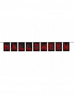 Blutige Halloween-Girlande schwarz-rot 123x15,5cm