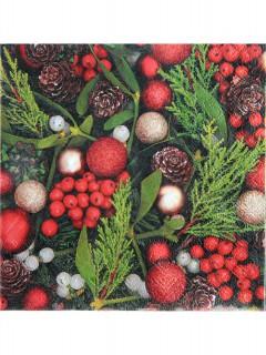 Papierservietten Weihnachtsmotiv Tischdeko 20 Stück bunt 33x33cm