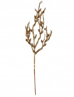 Gold-Ast Dekoration mit Pailletten Weihnachten gold 9,5x35cm