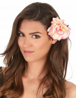 Blumen-Haarschmuck Haarclip Kostüm-Accessoire rosa