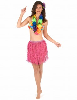 Hawaii Bastrock Kostüm-Accessoire rosa