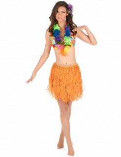 Hawaii-Damenrock Kostümaccessoire orange