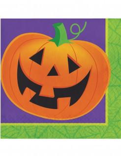 Halloween-Servietten aus Papier Kürbisse 16 Stück 33 x 33 cm