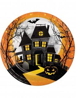 Halloween-Partyteller Spukhaus 8 Stück 23cm