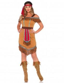 Kostüm für Damen indianische Prinzessin