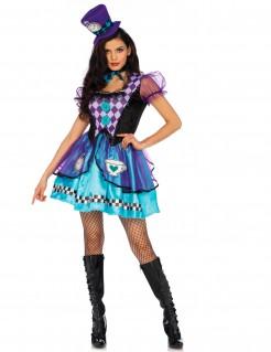 Kostüm Hutmacherin Prinzessin für Damen lila