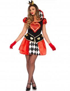 Kostüm Herzkönigin für Damen