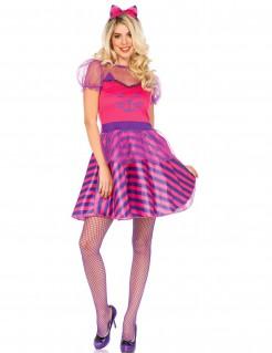 Kostüm Grinsekatze für Damen rosa