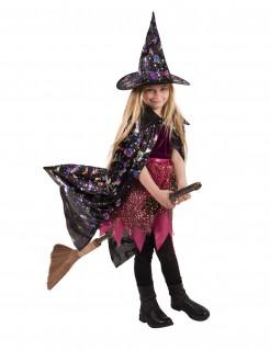 Umhang Hexe mit holographischen Mustern für Kinder