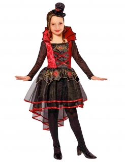 Halloween Kinderkostüm viktorianische Vampirin rot-schwarz