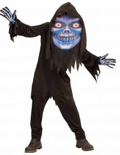 Gruseliger Sensenmann mit großem Kopf Halloween-Kostüm für Teenager