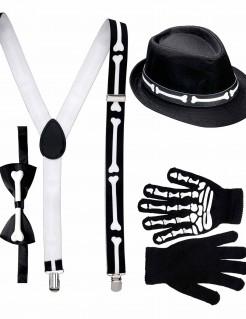 Gentleman-Skelett Halloween Zubehör-Set für Erwachsene