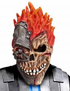 Halloween-Maske Cyber-Schädel für Erwachsene