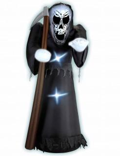 Gevatter Tod Halloween-Dekofigur zum Aufblasen 122cm schwarz-weiss-braun
