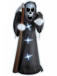 Aufblasbarer Sensenmann mit Licht Halloween-Deko 244 cm