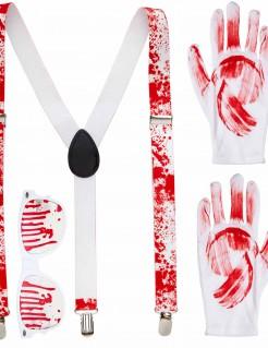Blutiges Halloween Accessoire-Set für Erwachsene