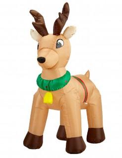 Aufblasbares Rentier mit Licht Weihnachts-Deko 120 cm