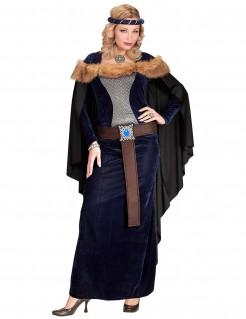 Kostüm Mittelalterliche Prinzessin für Damen blau