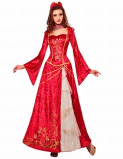 Kostüm Renaissance-Prinzessin für Damen rot