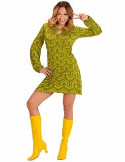 70er Jahre-Kostüm für Damen grün