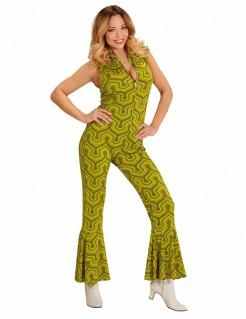 Retro-70er Jahre-Damenkostüm grün