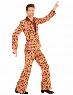 Verrückter 70er-Anzug Disco-Outfit gelb-rosa-schwarz