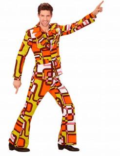 70er-Disco-Anzug 70er-Outfit orange-gelb