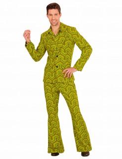 Groovy 70er Jahre Kostüm für Herren grün